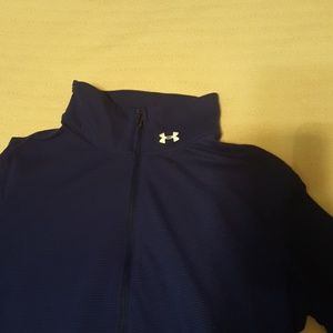 Under Armour Pants - Under Armour blue half-zip and leggings set.